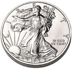 American Silver Eagle Bullion Coin Sales For 2012 Tops 33 Million Ounces – Mint Runs Out Of Coins